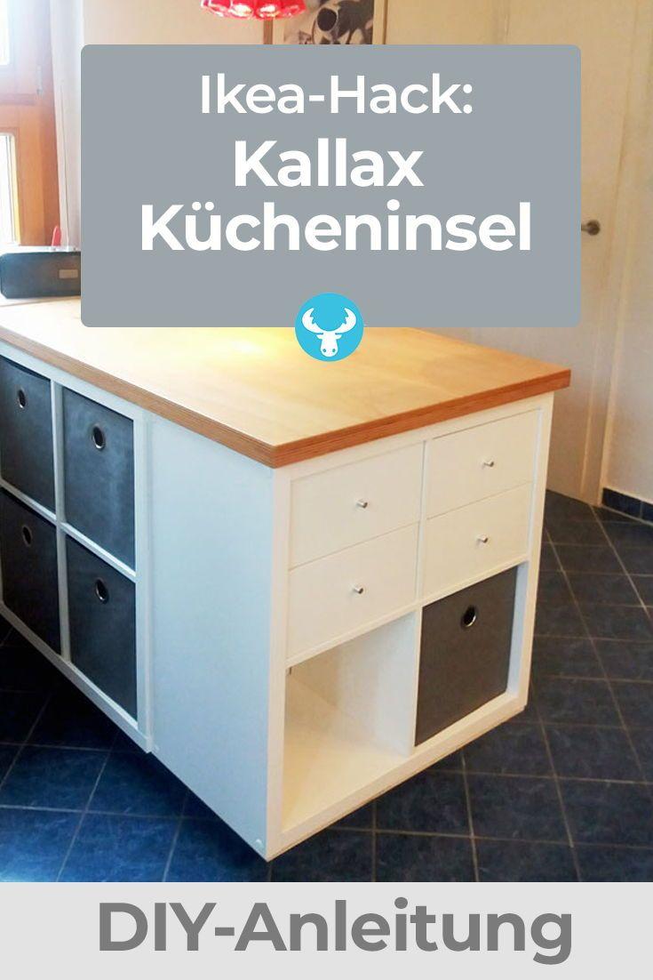 Wie du aus dem Ikea Kallax Regal eine Kücheninsel machst in ...