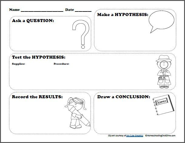 FREE Scientific Method Worksheet for Kids - Frugal Homeschool Family