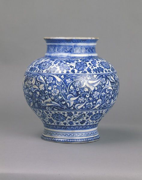 Jar, Iznik, Turkey, ca. 1480. Fritware, underglaze painted in blue, glazed. Height: 24.5 cm, Diameter: 23.5 cm. Purchased with the assistance of the Bryan Bequest and The Art Fund. Museum number: C.57-1952 © V Images.