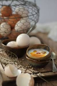 Half-boiled eggs breakfast