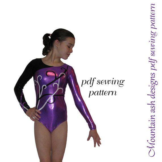 Leotards 5 pdf sewing pattern Gymnastics Dance rhythmic gym