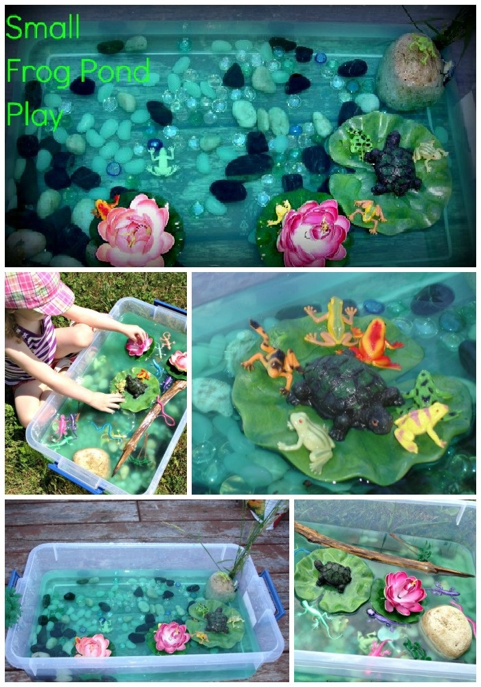 Small World Frog Pond Play (by Two Big Two Little on Growing a Jeweled Rose)