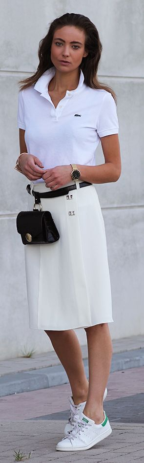 Sporty White Chic Outfit by Mode d'Amour
