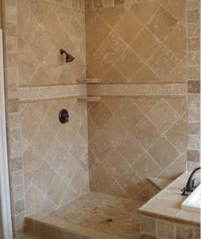 25 best ideas about travertine shower on pinterest for Bathroom designs 12x12