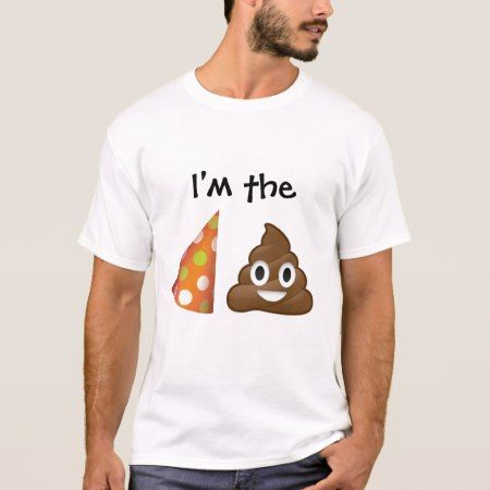 I'm the party pooper emoji T-shirt - click/tap to personalize and buy