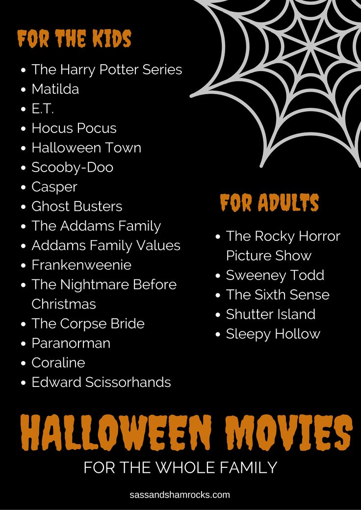 Family Favorite Halloween Movie List!