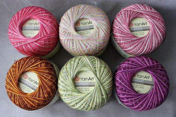 Melange cotton yarn for knitting lace yarn by reallycoolknits