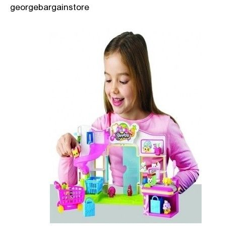 Shopkins Supermarket Small Mart Playset Grocery Exclusive Play Set Sealed Gift