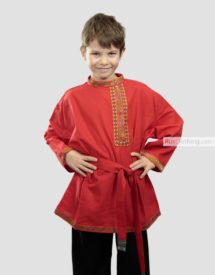Russian shirt ''Kosovorotka'' for boys | RusClothing.com