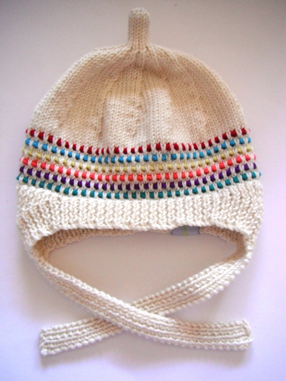 Hand Knitted Retro Inspired Dottie Hat