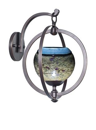 Woodbridge Lighting Cirque Wall Light, Metallic Bronze/Green/Purple