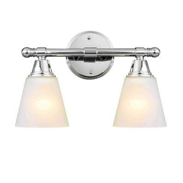 amazon bathroom light fixtures hampton bay 2 light chrome vanity sconce 15379
