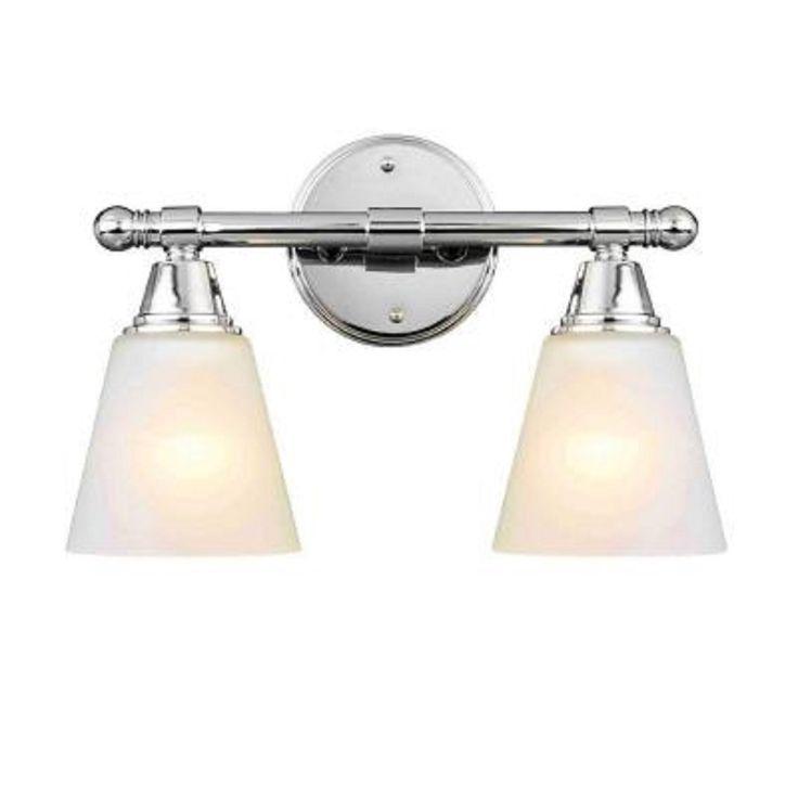 Amazon Bathroom Light Fixtures: Hampton Bay 2-Light Chrome Vanity Sconce