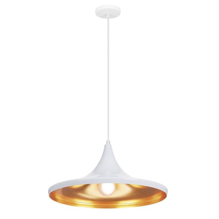 Verve Design 36cm 60W White Hana Pendant Lamp