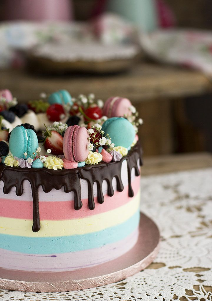 21 New Ideas for cake decorating chocolate red velvet Fondant Cakes, Cupcake Cakes, Cake Designs For Girl, Cake Recipes For Kids, Pretty Birthday Cakes, Cake Decorating With Fondant, Red Cake, Candy Cakes, Drip Cakes