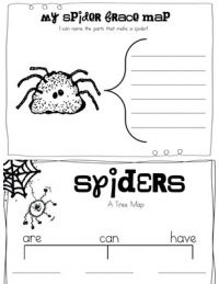 Spider activities: FREE thinking map.