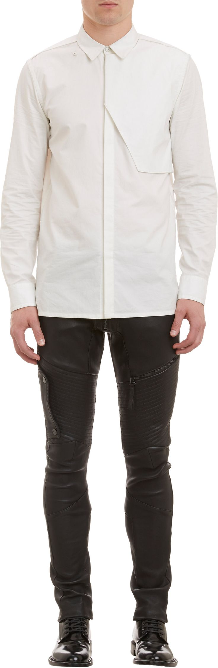 Helmut Lang Storm Flap Shirt at Barneys.com