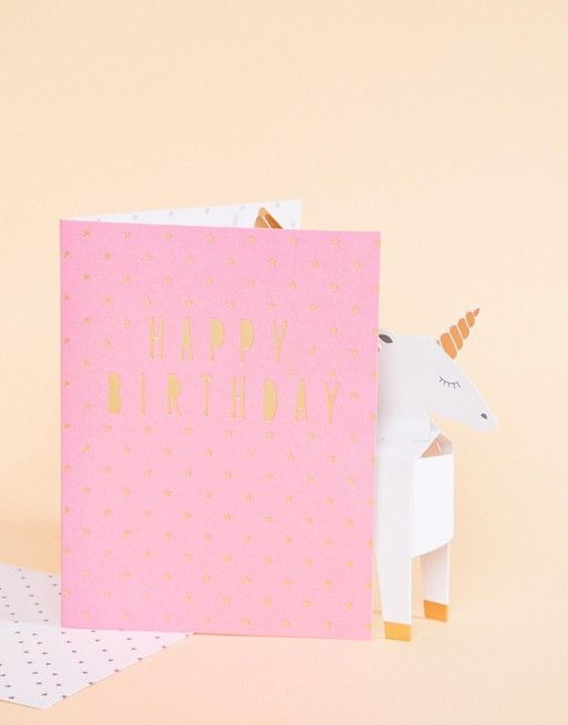 Paperchase Pop Up Unicorn Birthday Card Party Pinterest