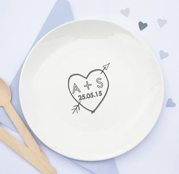 personalised love heart ceramic plate by tilliemint loves | notonthehighstreet.com