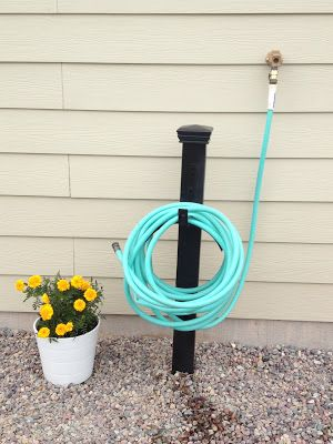 Garden hose holder diy pinterest garden hose holder for Diy garden hose storage