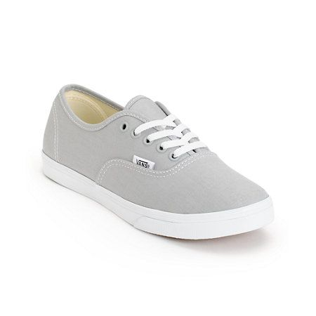 The Vans Authentic Lo Pro High Rise and True White shoe are a classic style that will go with anything. The durable canvas upper is constructed on top of a vulcanized rubber outsole with Vans micro-waffle tread for grip, while the slim design and low prof