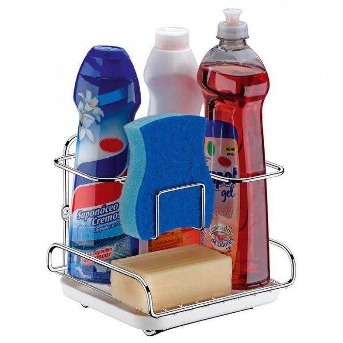 Organizador de Pia ou Parede para Sabão Detergente e Esponja Supermercado Digital