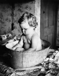 Het wekelijkse bad....