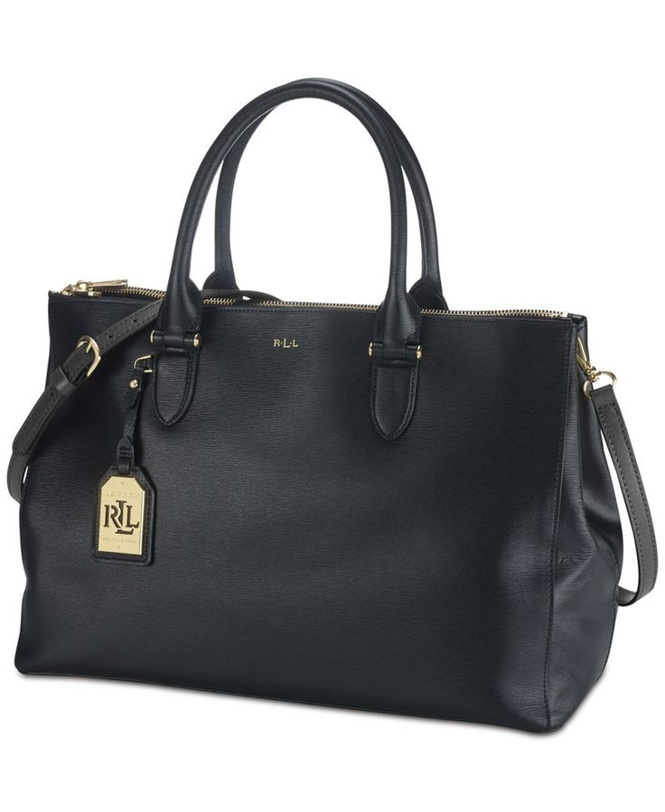 Lauren Ralph Lauren Handbag, Newbury Double Zip Satchel - All Handbags - Handbags & Accessories - Macy's