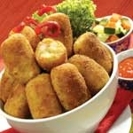 Combro...   Combro is a typical food of West Java. Made from grated cassava inside is filled with chili oncom then fried, because that is named combro which stands in jero oncom (Sundanese, meaning: oncom inside). Rounded oval shape. This food is delicious when eaten warm.
