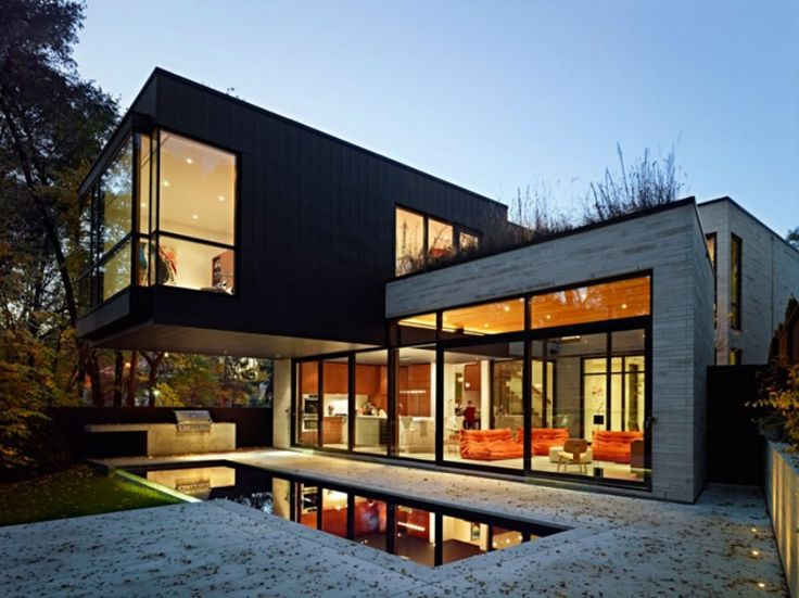 house with glass walls