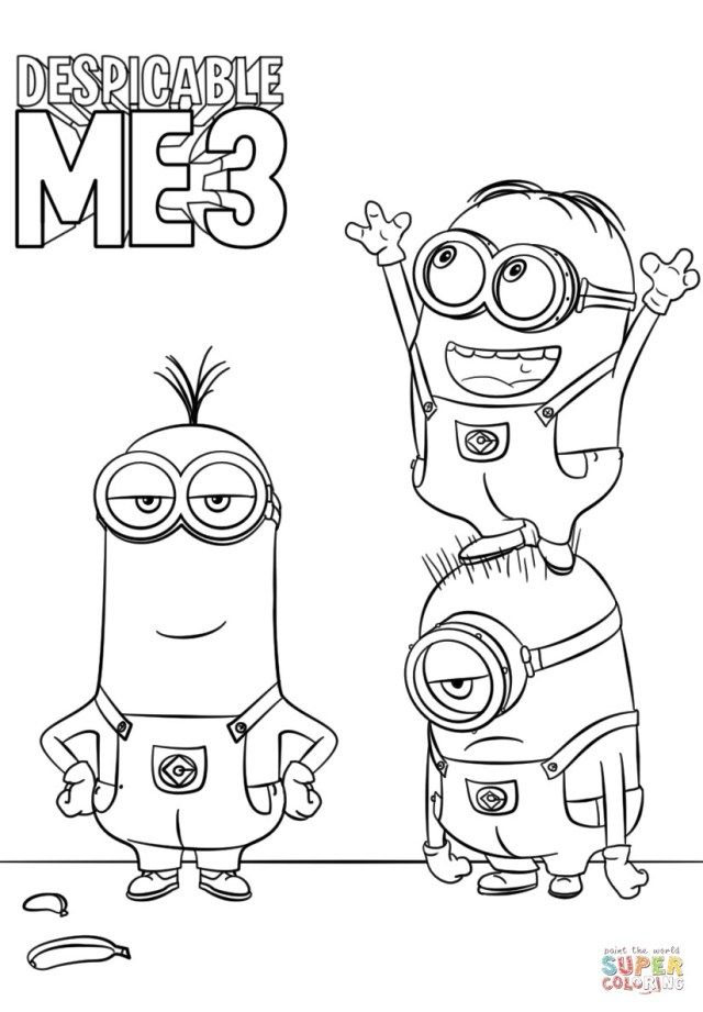 Creative Photo Of Despicable Me 3 Coloring Pages Albanysinsanity Com Minion Coloring Pages Minions Coloring Pages Monster Coloring Pages