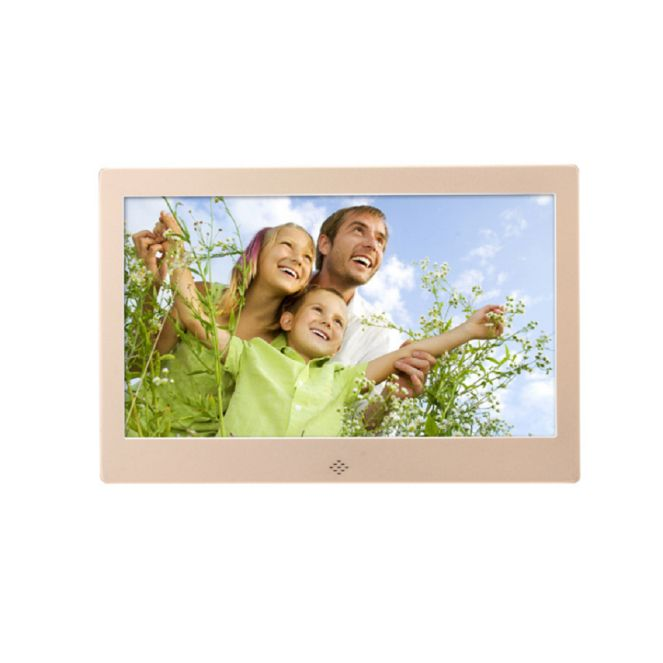 10+inch+Ultra-thin+Narrow+Side+Digital+Picture+Frame+HD+Digital+Photo+Display+Frame+Electronic+Photo+Album+(Gold) - $68.30