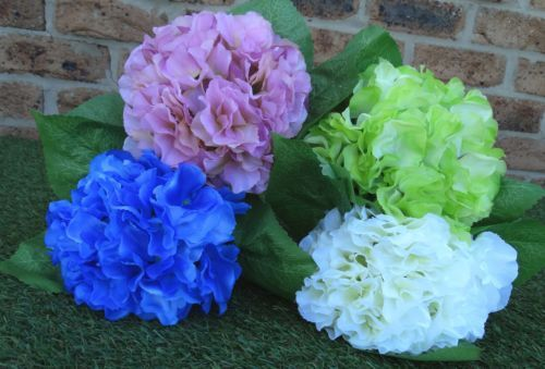 ARTIFICIAL HYDRANGEA BOUQUETS BLUE,GREEN,PINK &  wedding decoration