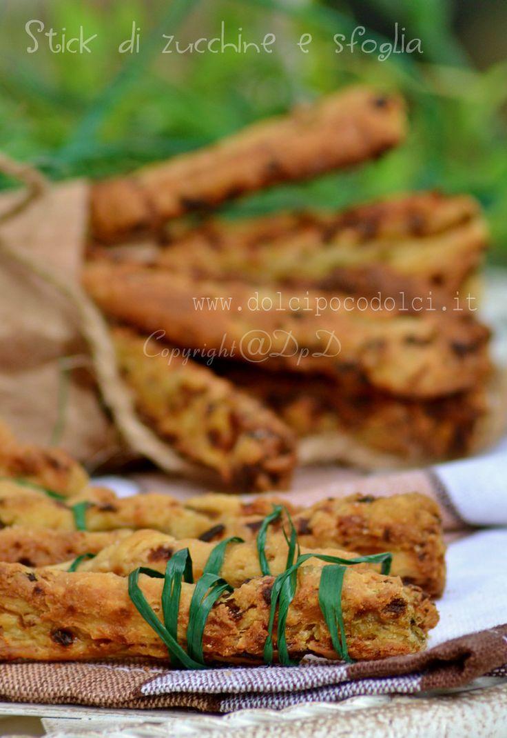 Stick di zucchine e sfoglia | Dolcipocodolci
