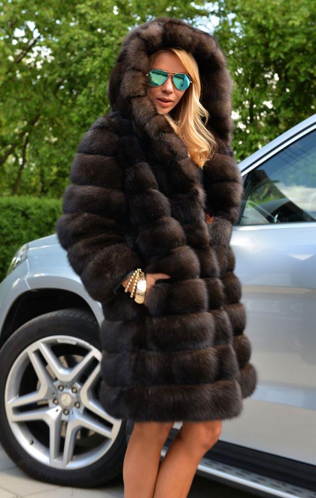 NATURAL BARGUZIN RUSSIAN SABLE FUR COAT CLASS- JACKET CHINCHILLA MINK LYNX FOX | Clothes, Shoes & Accessories, Women's Clothing, Coats & Jackets | eBay!