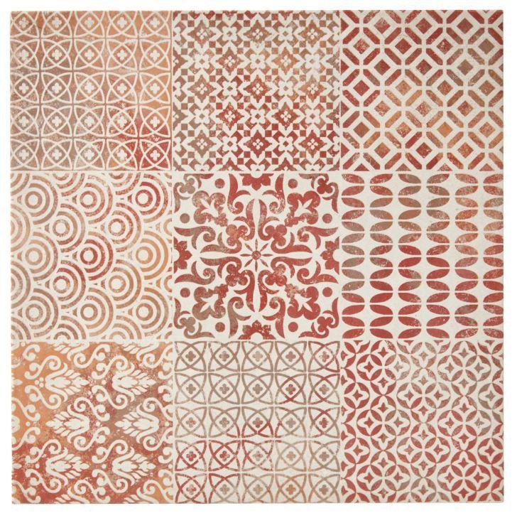 Carrelage Sol Et Mur Decor Rouge 45 X 45 Cm Antico Castorama Carrelagesol Carrelage Sol Carrelage Rouge Sol Et Mur