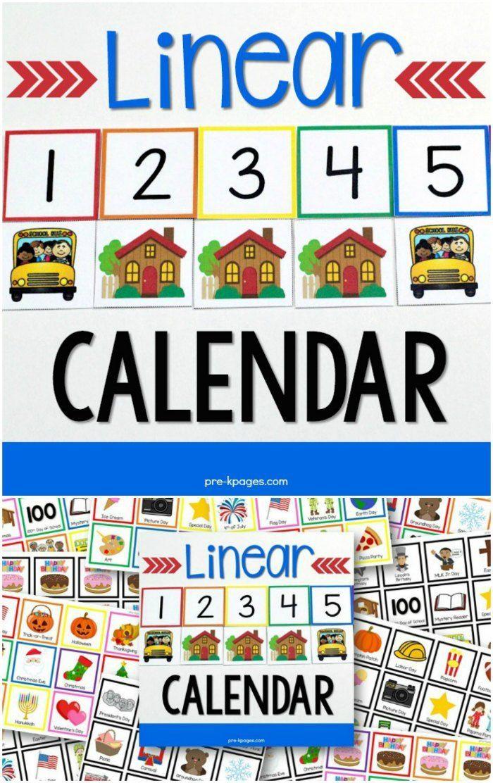 Linear Calendar Kit Pinterest Calendar time, Kindergarten