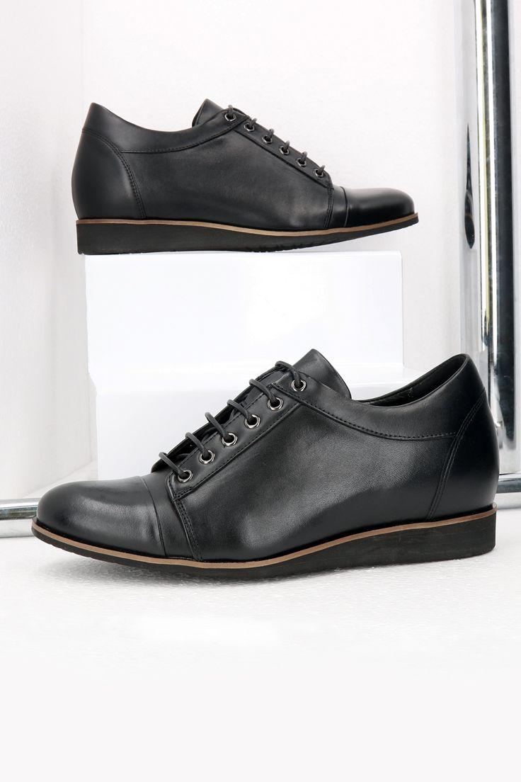Podwyzszajace Skorzane Meskie Buty Czarne Wolter Ce0414 04 Dress Shoes Men Dress Shoes Oxford Shoes