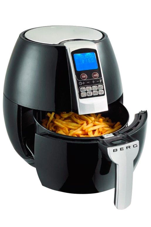 Berg Health Air Fryer RRP £189.00  SALE PRICE £75.60 This powerful 1500W BERG Electric Air Fryer is a new, healthy and easy way to fry food. It uses a Rapid Air Circulating System to cook food. It works by circulating hot air in all directions around the ingredients.