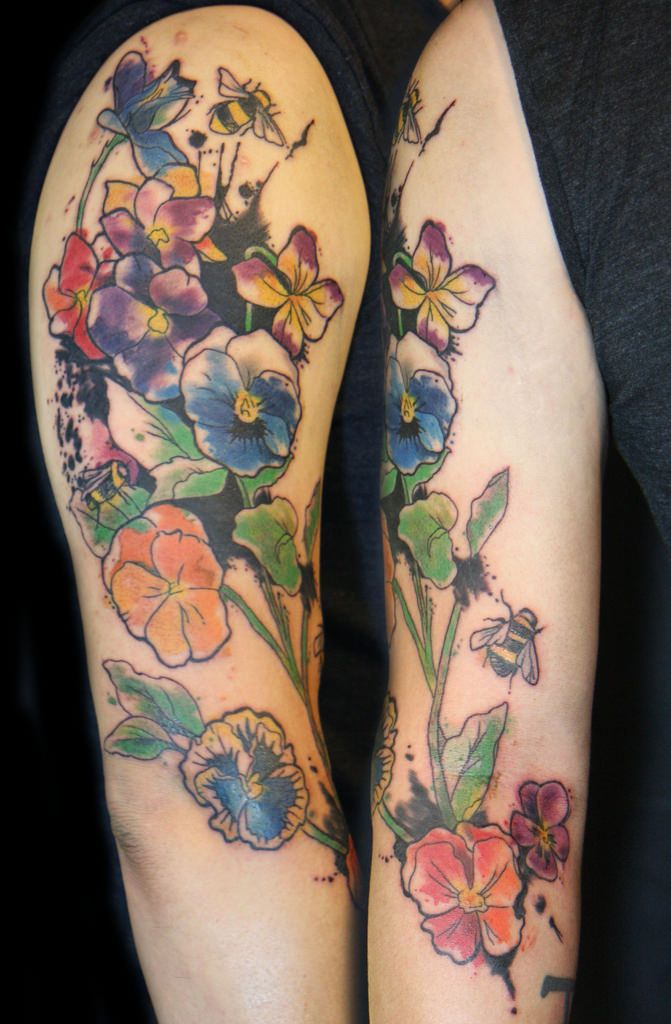 27 best images about tattoos floral on pinterest floral for Floral watercolor tattoo