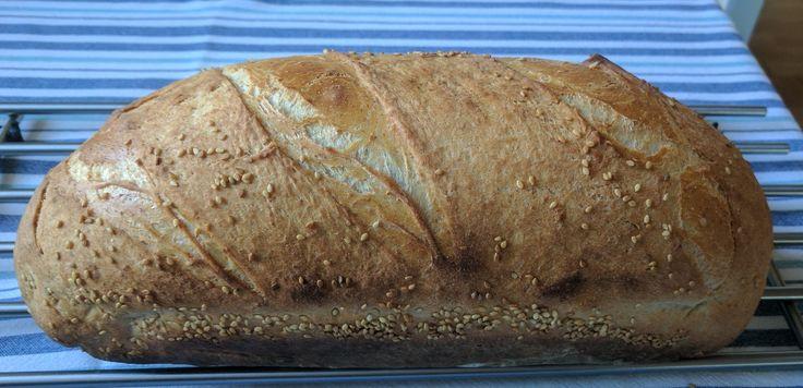 Hurtigt Groft Manitoba Brød - Bagt som Grydebrød ( Stentøjsform ). Ingredienser til ét brød: 500 g Manitoba mel 100 g Speltmel -...