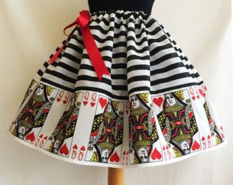 Alice In Wonderland Outfit Skirt Full Skirt Cosplay  by RoobyLane