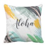 Personalized Abstract Tropical | Throw Pillow #weddinginspiration #wedding #weddinginvitions #weddingideas #bride