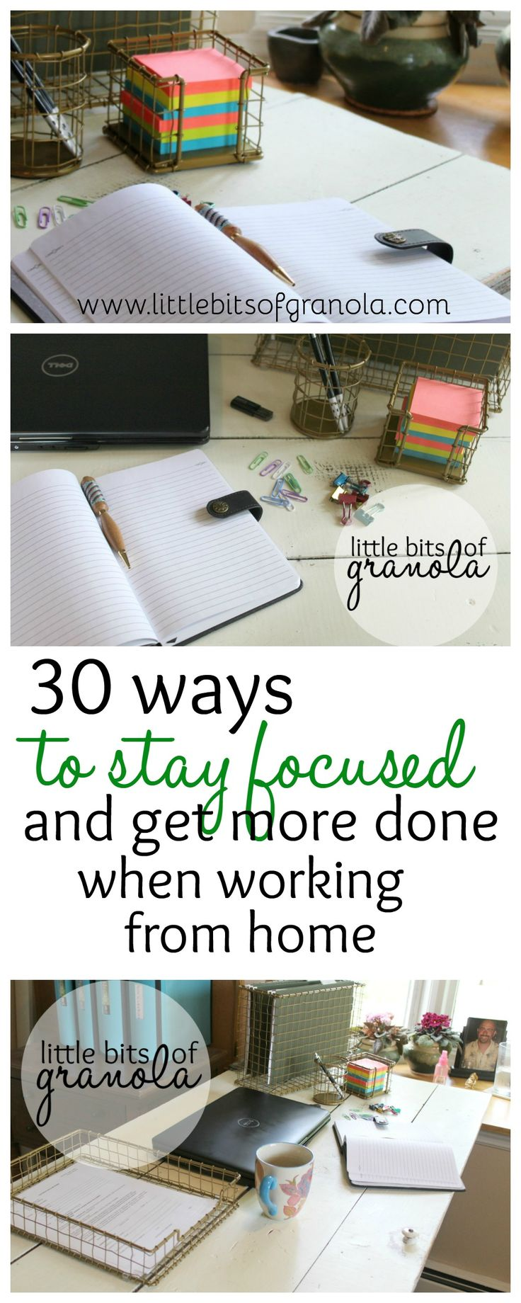 There are SO MANY distractions when you work from home! This is a terrific list of tips for staying focused.