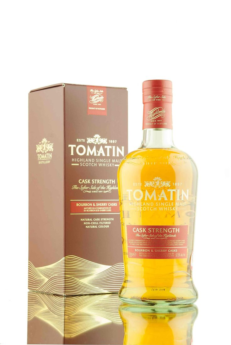 A new cask strength edition release from Tomatin whisky distillery, matured in a combination of bourbon and sherry casks and bottled at 57.5% vol.