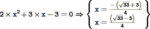 2x^2+3x-3=0