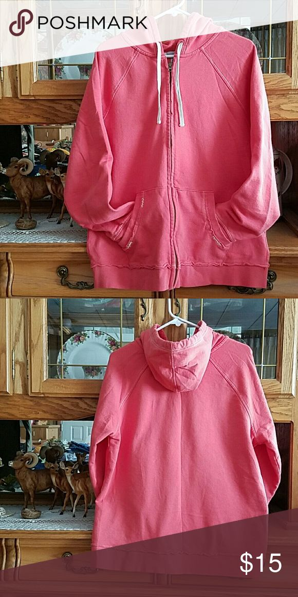 OLD NAVY ZIP UP HOODIE OLD NAVY ZIP UP HOODIE PUMPKIN COLOR WORN ONCE ONLY. OLD NAVY Tops Sweatshirts & Hoodies