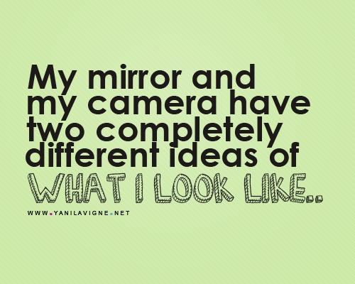 Mirror vs Camera.
