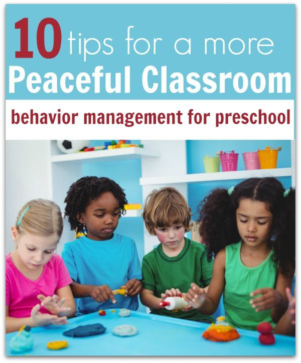 Preschool behavior management tips for preschool teachers, daycare workers, and nannies. Tips to create a more peaceful classroom.