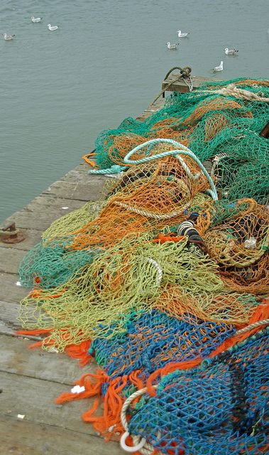 Fishing net, Felixstowe, Suffolk, England by Sebastià Giralt, via Flickr